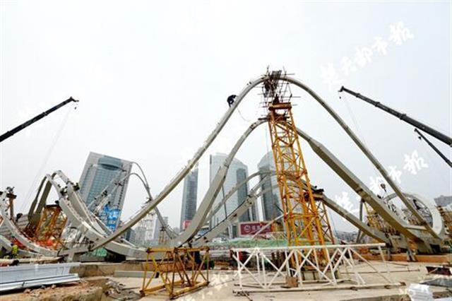 国内最大单体钢结构公共艺术雕塑初现雏形